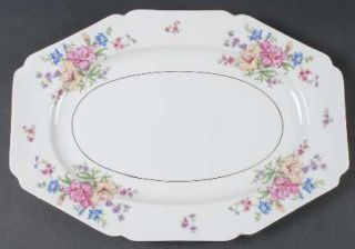 Heinrich   H&C Strasbourg 15 Oval Serving Platter, Fine China Dinnerware   Larg