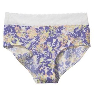 Gilligan & OMalley Womens Cotton With Lace Hipster Brief   Violet Storm XL