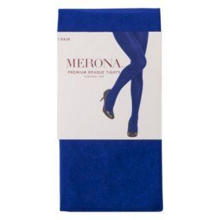 Merona Womens Premium Control Top Opaque Tights   Athens Blue M Tall