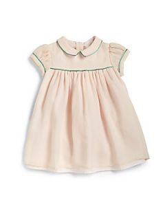 Marie Chantal Infants Silk Piped Dress   Pale Pink