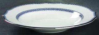 Richard Ginori Jasmine Large Rim Soup Bowl, Fine China Dinnerware   Duchessa,Blu