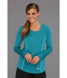 Mountain Hardwear Wicked Lite L/S T Womens Long Sleeve Pullover (Blue)