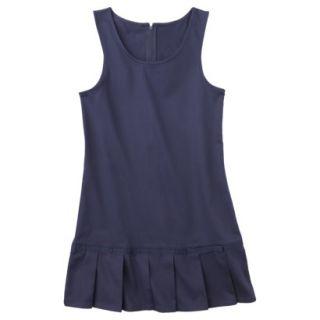 French Toast Girls School Uniform Pleated Hem Jumper   Navy 12