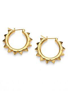 Tom Binns Spiked Hoop Earrings/2   Gold