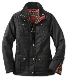 Barbour Ladies Morris print Utility Jacket, Black, 10