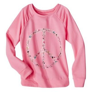 Circo Girls Long Sleeve Sweatshirt   Daring Pink L