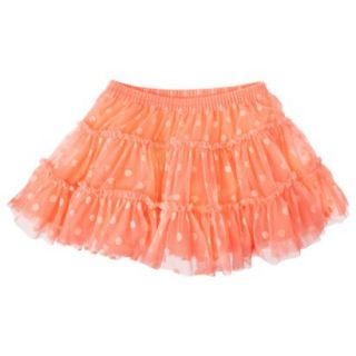 Cherokee Infant Toddler Girls Full Polkadot Skirt   Peach 5T