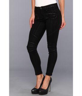 Hudson Shelby Moto Skinny in Black Silver Wax Womens Jeans (Black)
