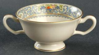 Lenox China Autumn, The (Black/Green Backstamp) Footed Bouillon Cup, Fine China