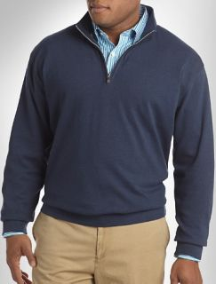 Big and Tall Peter Millar® Lightweight Quarter Zip Pullover