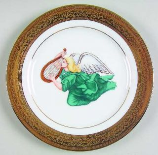 Muirfield Magnificence Angels Salad Plate, Fine China Dinnerware   Angels,Gold E