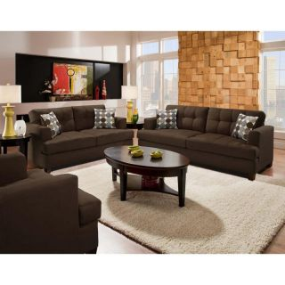 Chelsea Home Morris Sofa and Loveseat Set   Calcutta Coffee Multicolor   CHEL825