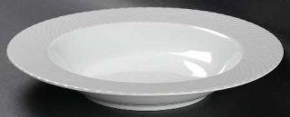 Sasaki China Regency Gray Rim Soup Bowl, Fine China Dinnerware   Gray Ribbed Bor