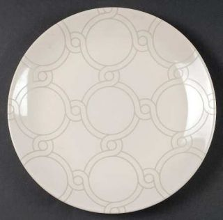 Jaclyn Smith Chain Link Dinner Plate, Fine China Dinnerware   Today,Cream&Taupe,