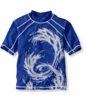 Boys Beansport Graphic Surf Shirt, Short Sleeve Wave Little Boys