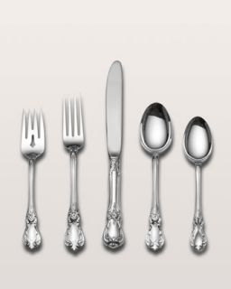 Five Piece Old Master Sterling Silver Flatware Place Setting   Wallace