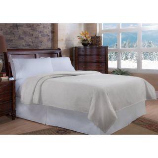Soft Heat MacroMink Electric Warming Blanket Natural Vanilla   297 103 07 14