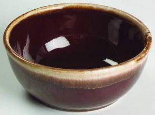 Nelson McCoy Brown Drip 6 Mixing Bowl, Fine China Dinnerware   Dark Brown Drip