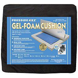 Hudson Pressure Eez Gel/ Foam 18 X 18 X 2 Inch Wheelchair Seat Cushion