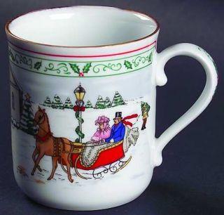 Royal Worcester Village Christmas Mug, Fine China Dinnerware   Porcelain,Winter