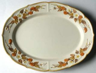 Metlox   Poppytrail   Vernon Autumn Berry 14 Oval Serving Platter, Fine China D
