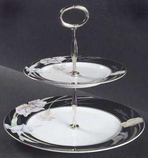 Mikasa Charisma Black 12 Chop Plate/Round Platter, Fine China ...