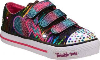 Infant/Toddler Girls Skechers Twinkle Toes Shuffles Glamarazzi   Black/Multi Ve