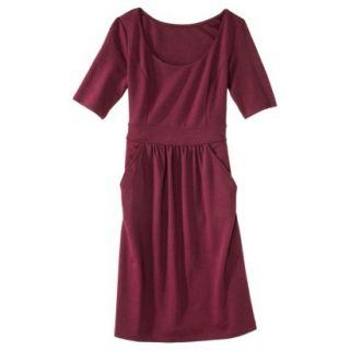 Merona Womens Ponte Elbow Sleeve Dress w/Pockets   Berry Cobbler   M