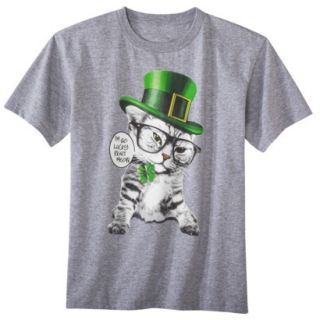 Boys St. Patricks Day Graphic Tee   Gray S
