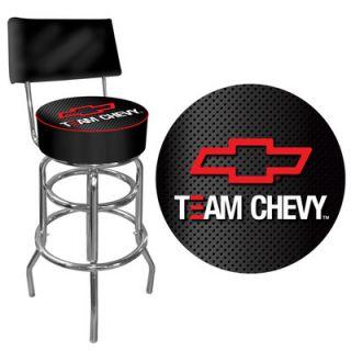 Trademark Global Team Chevy Racing Padded Bar Stool with Back GM1100 TC