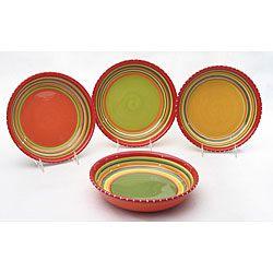 Certified International Hot Tamale Cereal Bowls (set Of 4)