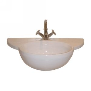 Barclay B 3 611WH Alida Pedestal Sink Basin, One Hole, for use with C 3 61 Colum