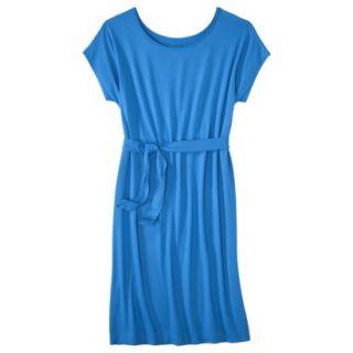 Merona Womens Knit Belted Dress   Brilliant Blue   XXL