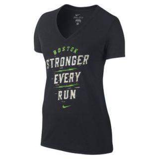 Nike Run Stack (Boston 2014) Womens T Shirt   Black