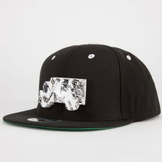 Scribble Pattern Mens Snapback Hat Black One Size For Men 230402100