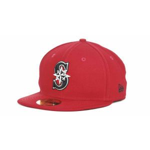 Seattle Mariners New Era MLB Red BW 59FIFTY Cap