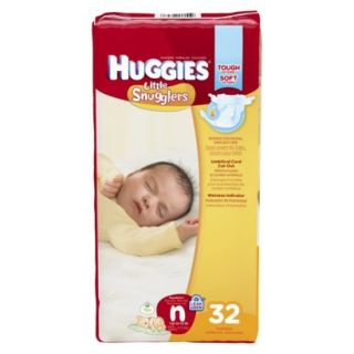 HUGGIES Little Snugglers Diapers Jumbo Pack Size Newborn (32 Count)