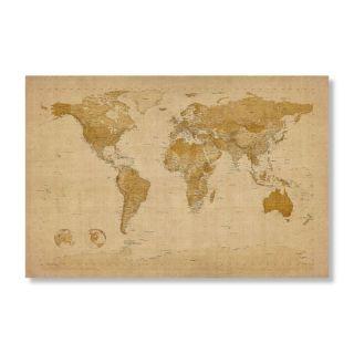 Antique World Map by Michael Tompsett Wall Art Multicolor   MT0001 C3047GG, 47W