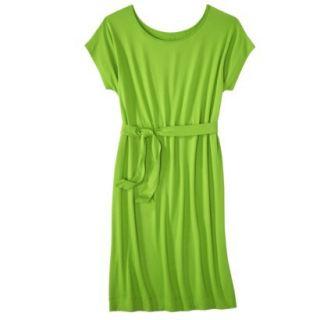 Merona Womens Knit Belted Dress   Zuna Green   M