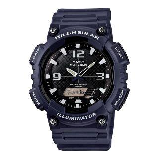 Casio Analog Digital Solar Sports Watch, Blue, Mens