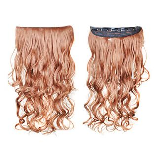 Clip in Synthetic Curly Hair Extensions with 5 Clips   6 Colors Available