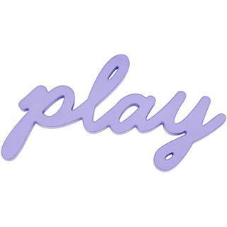 ART Play Wood Sign Wall Decor, Purple