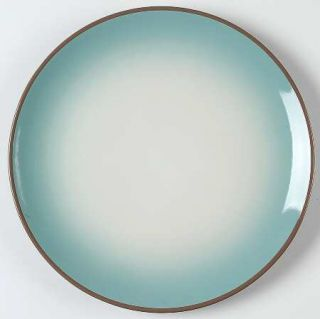 Cindy Crawford Style Ombre Aqua Dinner Plate, Fine China Dinnerware   Aqua/White