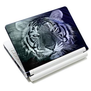 White Tiger Head Pattern Laptop Notebook Cover Protective Skin Sticker For 10/15 Laptop 18627