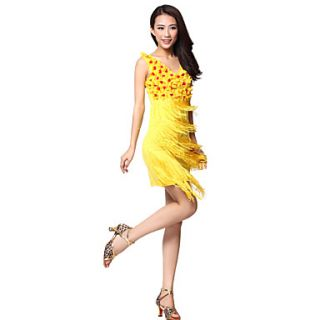 Performance Dancewear Polyester With Tassels Latin Dance Dress for Ladies (More Colors)