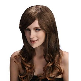 Capless Long High Quality Synthetic Curly Hair Wig 4 Colors Available
