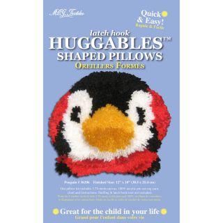 Huggables Penguin Pillow Latch Hook Kit