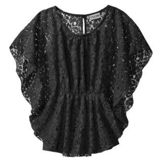 Cherokee Girls 3/4 Sleeve Shirt   Ebony L