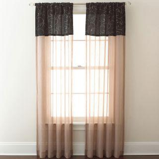 Westgate Rod Pocket Curtain Panel, Black