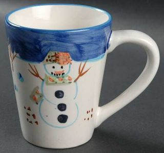 Montgomery Ward Snowman Mug, Fine China Dinnerware   Snowman Center,Light Blue T